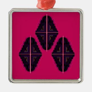 MandalaOrnamenten van de luxe Zilverkleurig Vierkant Ornament