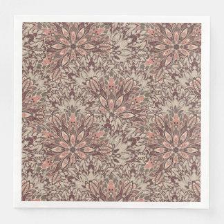 Mandalapatroon van de pastelkleur papieren servetten