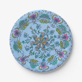 Mandalas voor Munchies - BloemenI Papieren Bordje