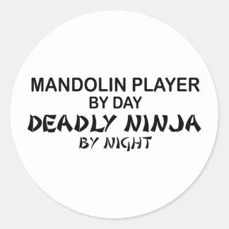 Mandoline Dodelijke 's nachts Ninja Ronde Sticker