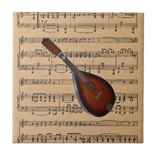 Mandoline met de Achtergrond van de Muziek van het Tegeltje