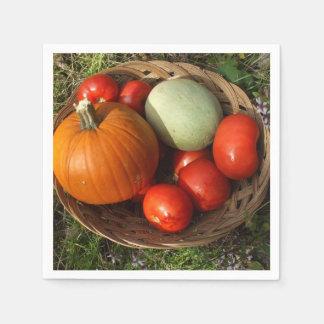 Mandvol van Vruchten en groente-Thanksgiving Wegwerp Servet