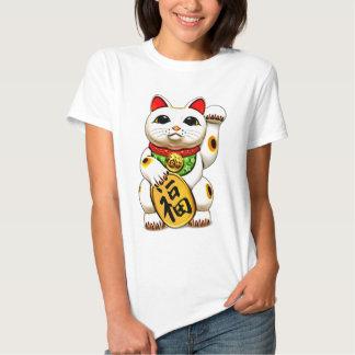 Maneki-neko, 招き猫, gelukkige kat shirt