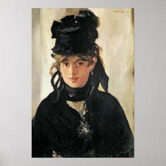 Manet | Berthe Morisot met een Boeket van Poster