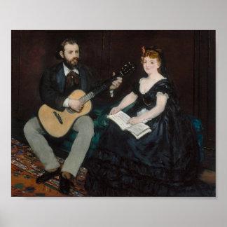 Manet, de Les van de Muziek Poster