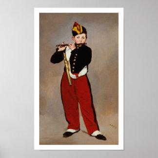 Manet - Fifer (ook genoemd de Speler van Fife) Poster
