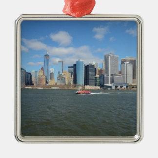 Manhattan in de afstand ornamenten