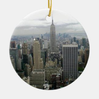 Manhattan, NYC Rond Keramisch Ornament