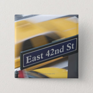 Manhattan Vierkante Button 5,1 Cm