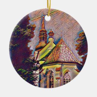 Manipulatie van de Foto van de Torenspitsen van de Rond Keramisch Ornament