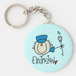 Mannelijke Elektricien Keychain Sleutelhanger
