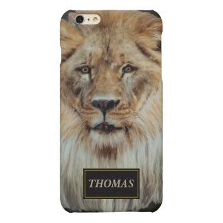 Mannelijke leeuw in Kleur iPhone 6 Plus Hoesje Mat