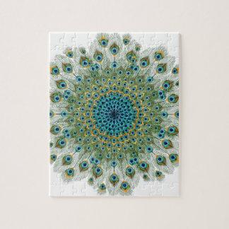 Mannelijke Pauw Kleurrijke Mandala Puzzels