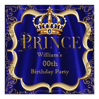 Mannen 2 van de Kroon van de Koningsblauwen van de 13,3x13,3 Vierkante Uitnodiging Kaart