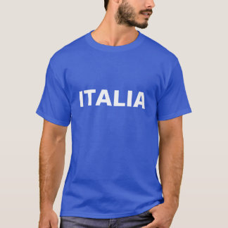 Mannen Blauw en Wit ITALIË T Shirt