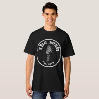 """Mannen de """"Zwarte T-shirt van sesh"""" CREST"""