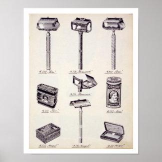 Mannen die materiaal, van een handelscatalogus sch poster