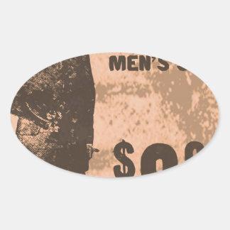 mannen kostuums ovale stickers