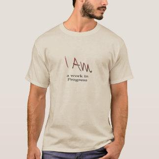 Mannen lang sleeveoverhemd, ben ik het lopend werk t shirt