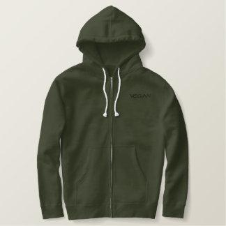Mannen pit-omhooggaand van de VEGANIST hoodie