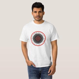 mannen T-shirt, wit met centrumembleem T Shirt