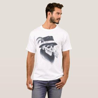 Mannen wit oud schedelt-shirt t shirt