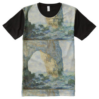 Manneporte, de Boog Étretat van de Rots All-Over-Print T-shirt