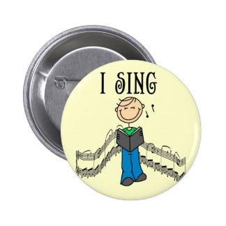 Mannetje zing ik T-shirts en Giften Ronde Button 5,7 Cm