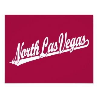 Manuscriptlogo het Noord- van Las Vegas in wit 10,8x13,9 Uitnodiging Kaart