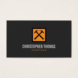 Manusje van alles, Timmerman, Logo II van de Hamer Visitekaartjes