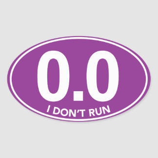 Marathon 0.0 stel ik geen Ovale (Paarse) in Ovale Sticker