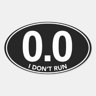 Marathon 0.0 stel ik geen Ovale (Zwarte) in Ovale Sticker
