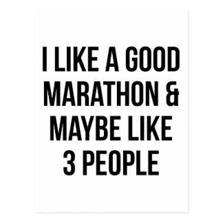 Marathon & 3 Mensen Briefkaart