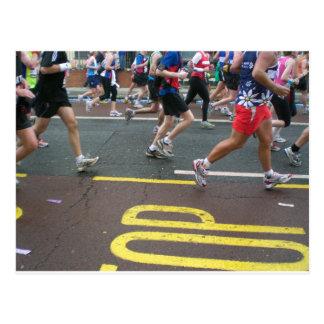 Marathon in Londen 2010 Briefkaart