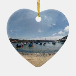 marazion haven keramisch hart ornament