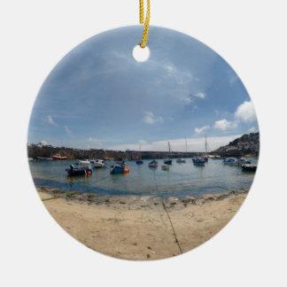 marazion haven rond keramisch ornament