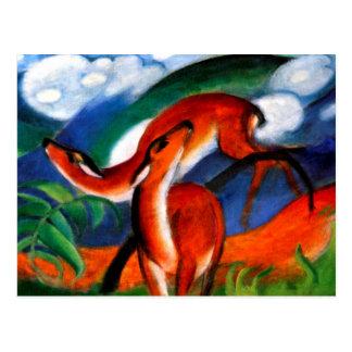 Marc - Rode Herten II Briefkaart