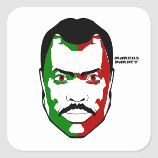 Marcus garvey I Vierkante Sticker
