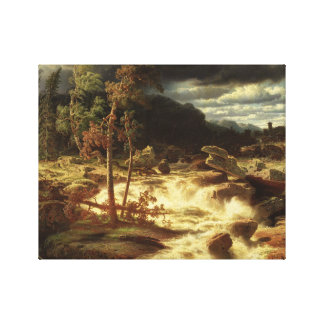Marcus Larson - Waterval in Smaland Canvas Afdruk