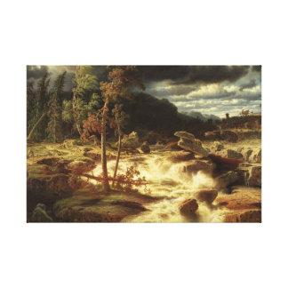 Marcus Larson - Waterval in Smaland Canvas Afdrukken