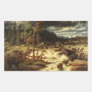 Marcus Larson - Waterval in Smaland Rechthoekige Sticker