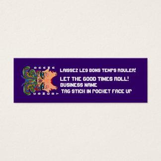 """Mardi Gras 3"""" x 1"""", de Magere Wenken van het Mini Visitekaartjes"""