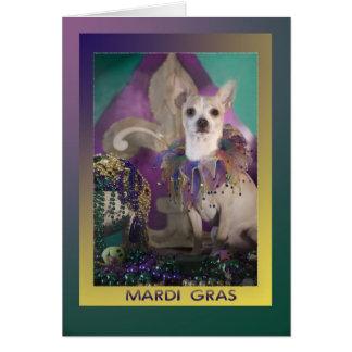 Mardi Gras Chihuahua in Kostuum Kaart