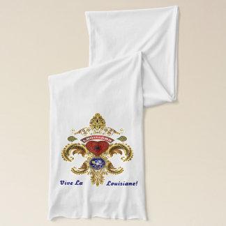 Mardi Gras Koningin 3 en Fleur DE lis Light Sjaal