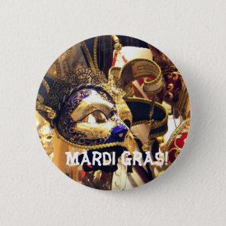 Mardi Gras maskeert Knoop Ronde Button 5,7 Cm