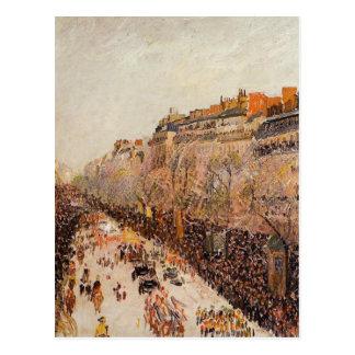 Mardi Gras op de Boulevards door Camille Pissarro Briefkaart