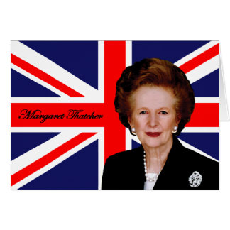 Margaret Thatcher - Britse Vlag Briefkaarten 0