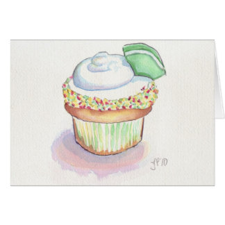 Margarita Cupcake Card Wenskaart