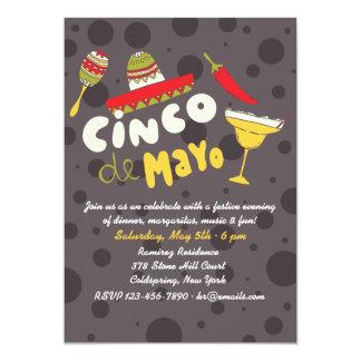Margaritas en Meer Uitnodiging van Cinco DE Mayo