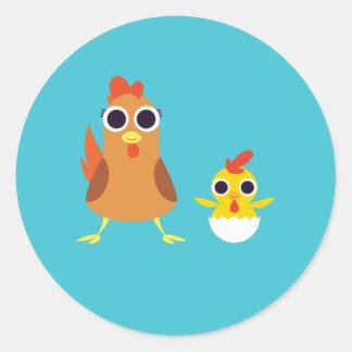 Maria & Bandiet de Kippen Ronde Sticker